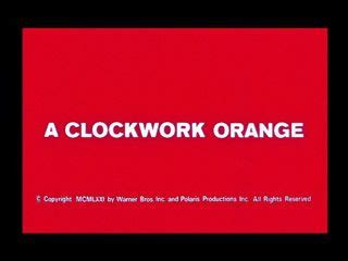 Thesis clockwork orange